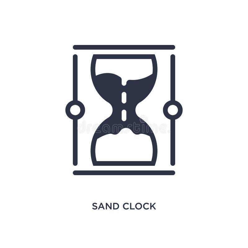 icône d'horloge de sable sur le fond blanc Illustration simple d'élément de concept de navigation de Web illustration libre de droits