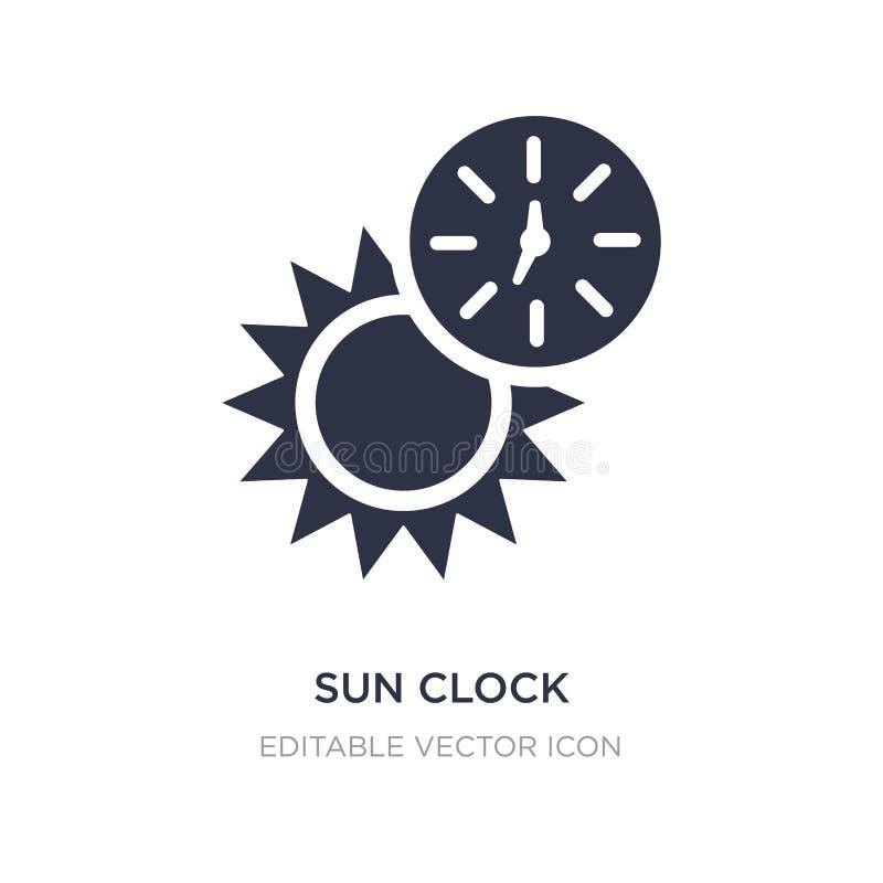 icône d'horloge du soleil sur le fond blanc Illustration simple d'élément de notion générale illustration libre de droits