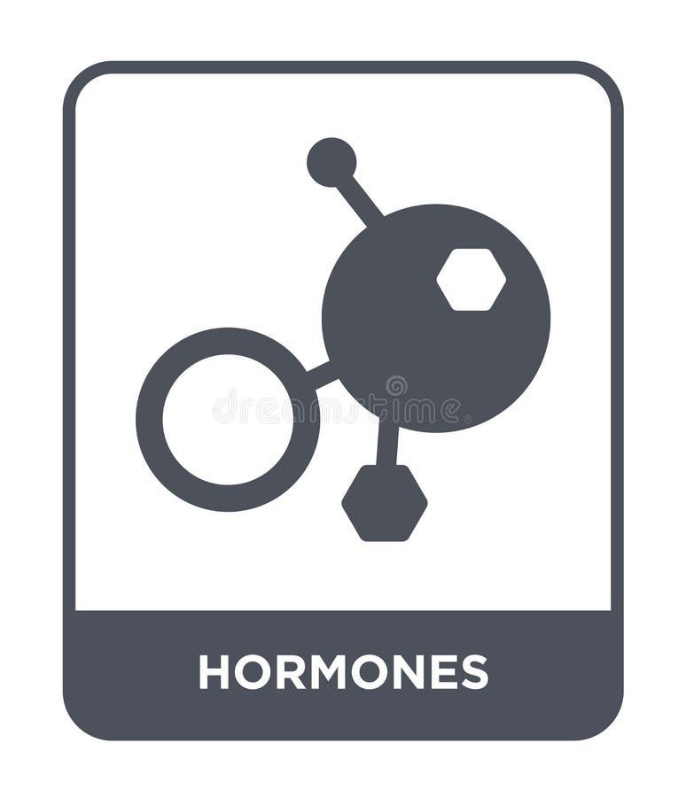icône d'hormones dans le style à la mode de conception icône d'hormones d'isolement sur le fond blanc appartement simple et moder illustration stock