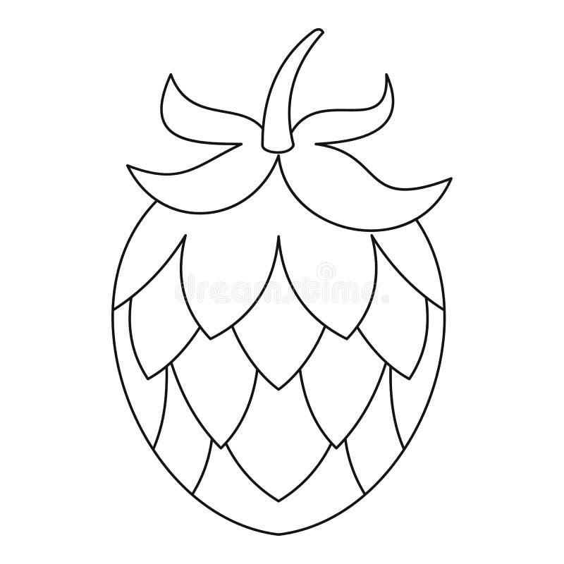 Icône d'houblon, style d'ensemble illustration de vecteur