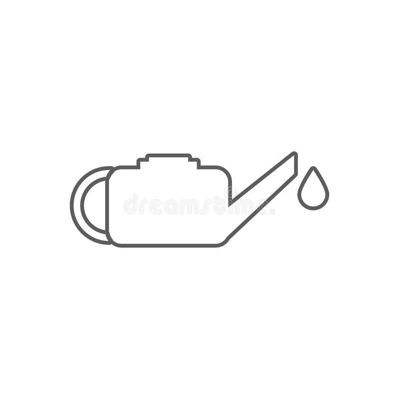 Icône d'huile à moteur Élément d'huile pour le concept et l'icône mobiles d'applis de Web Contour, ligne mince icône pour la conc illustration libre de droits