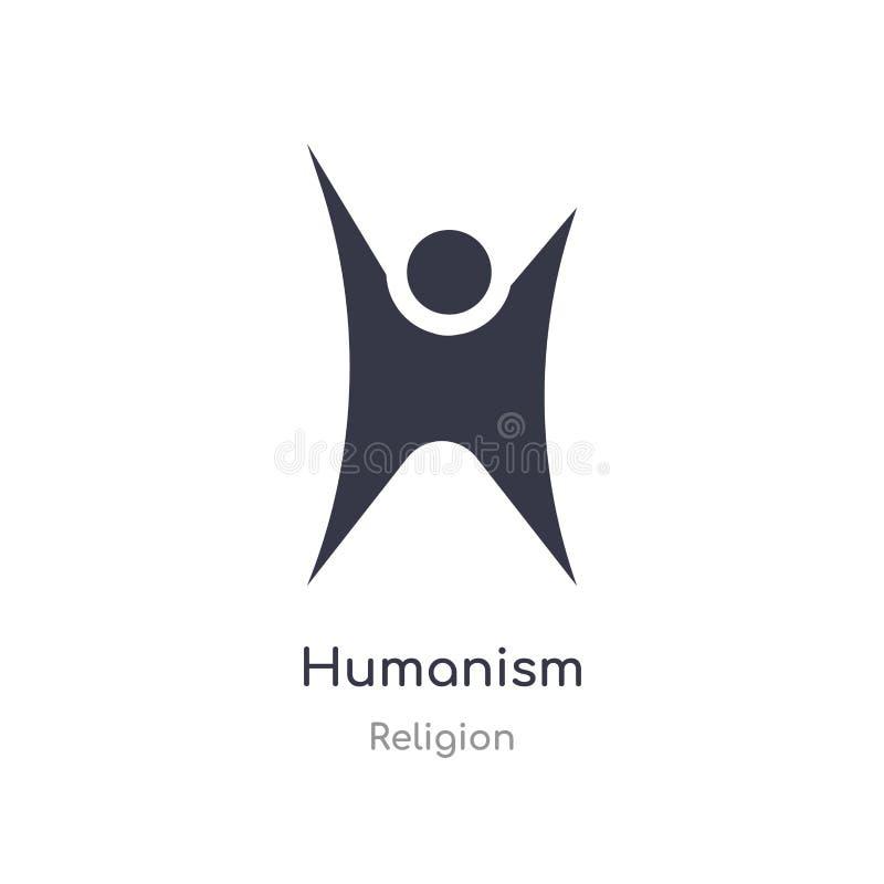 icône d'humanisme illustration d'isolement de vecteur d'icône d'humanisme de collection de religion editable chantez le symbole p illustration libre de droits