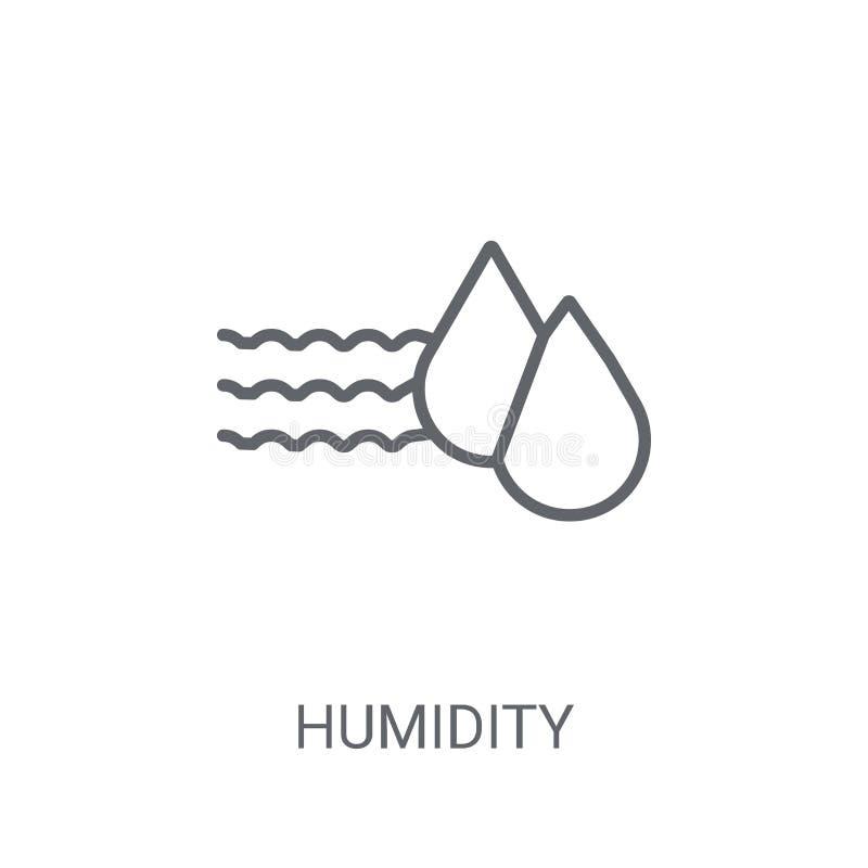 Icône d'humidité Concept à la mode de logo d'humidité sur le fond blanc illustration stock