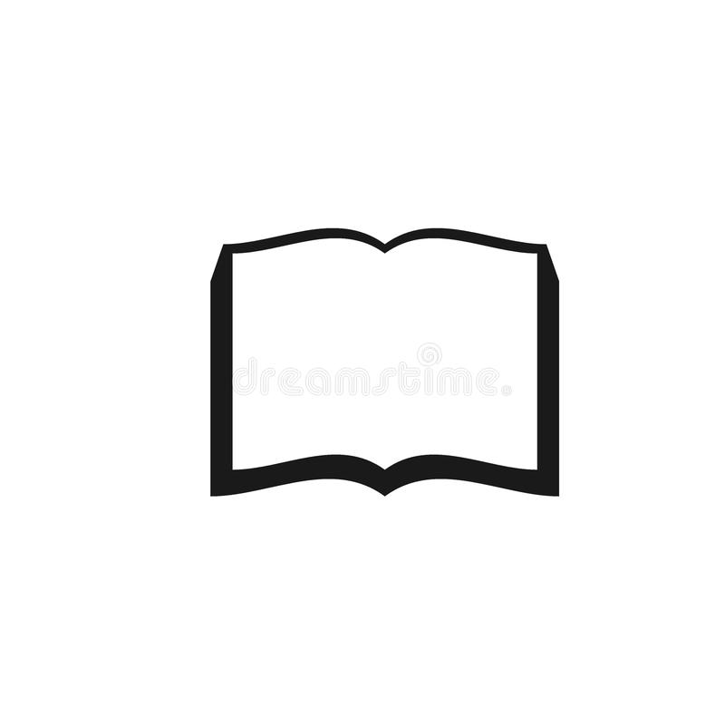 Icône d'illustration de livre Livre Logo Vector images libres de droits