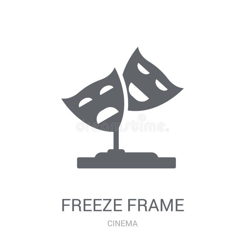 icône d'image fixe Concept d'image fixe à la mode de logo sur le CCB blanc illustration libre de droits
