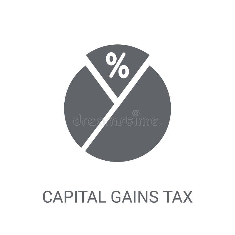Icône d'impôt sur la plus-value  illustration stock