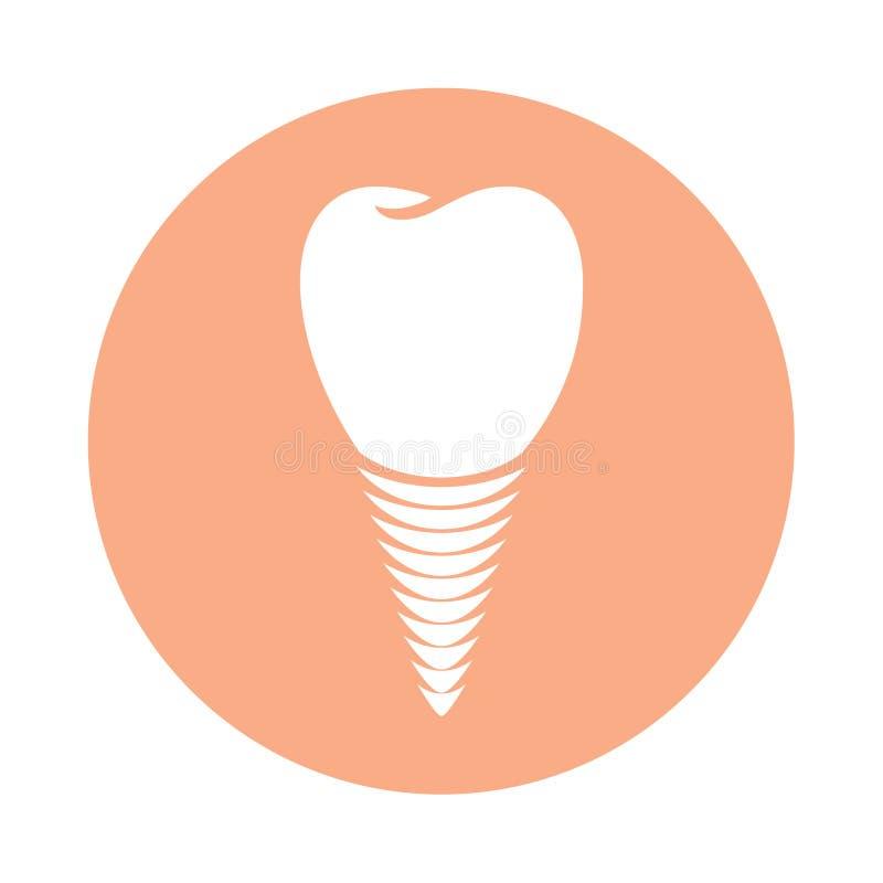 Icône d'implant dentaire en cercle illustration libre de droits