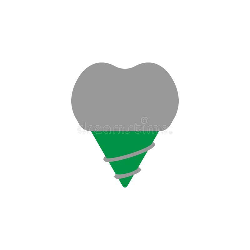 Icône d'implant et d'implantation Élément d'icône de soins dentaires pour des applis mobiles de concept et de Web Icône détaillée illustration de vecteur