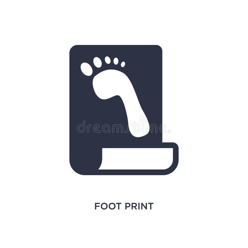 icône d'impression de pied sur le fond blanc Illustration simple d'élément de concept d'histoire illustration stock