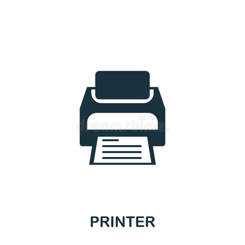 Icône d'imprimante Ligne conception d'icône de style Ui Illustration d'icône d'imprimante pictogramme d'isolement sur le blanc Pr illustration de vecteur
