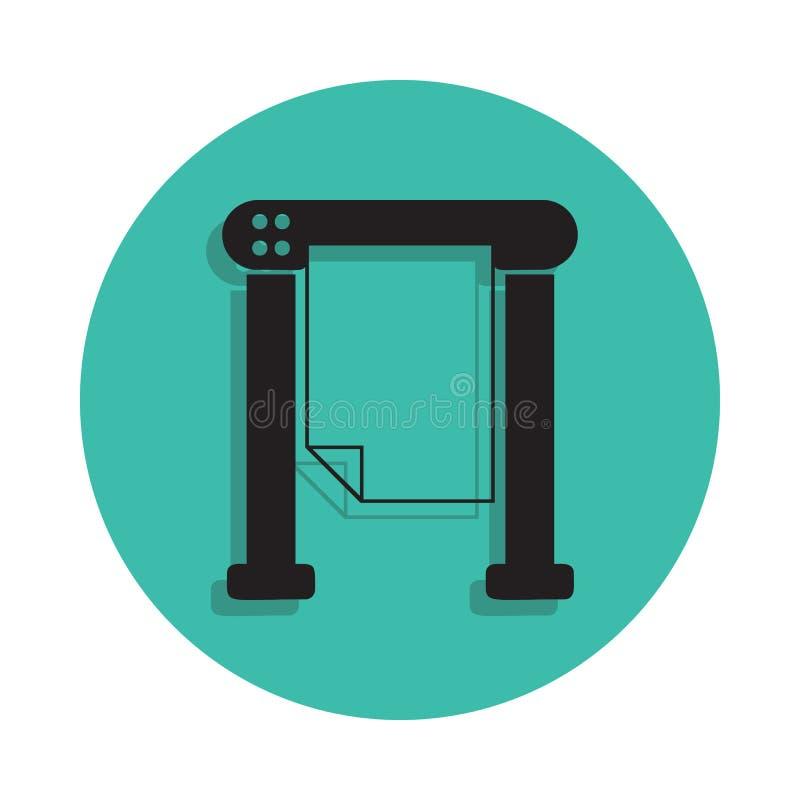icône d'imprimante thermique Élément de maison d'impression pour le concept et l'icône mobiles d'apps de Web Ligne mince icône av illustration libre de droits