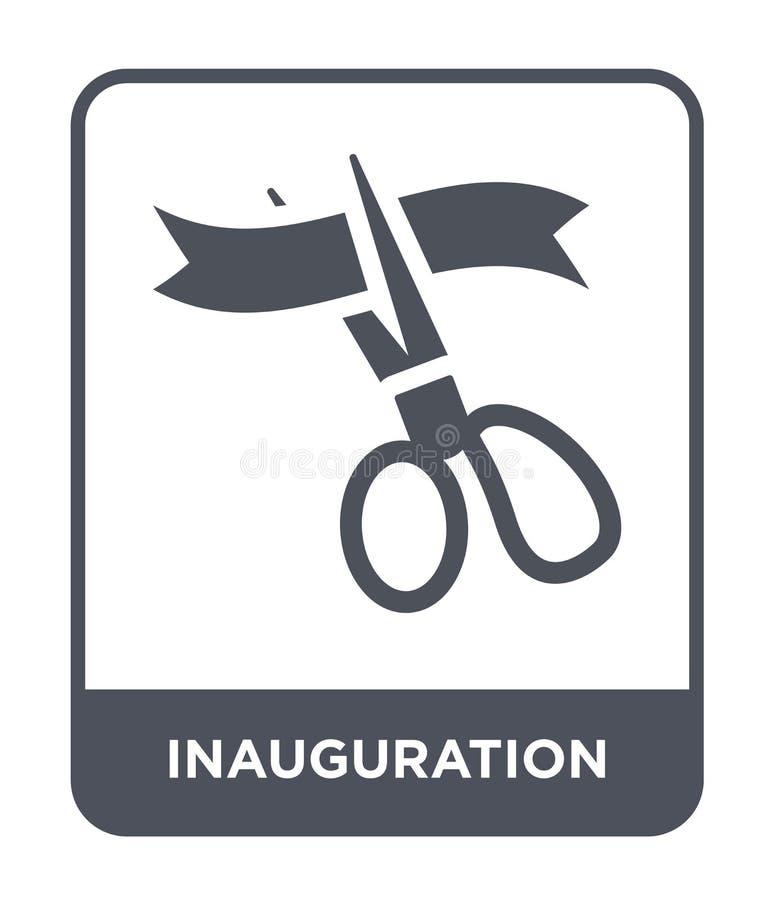 icône d'inauguration dans le style à la mode de conception icône d'inauguration d'isolement sur le fond blanc icône de vecteur d' illustration libre de droits