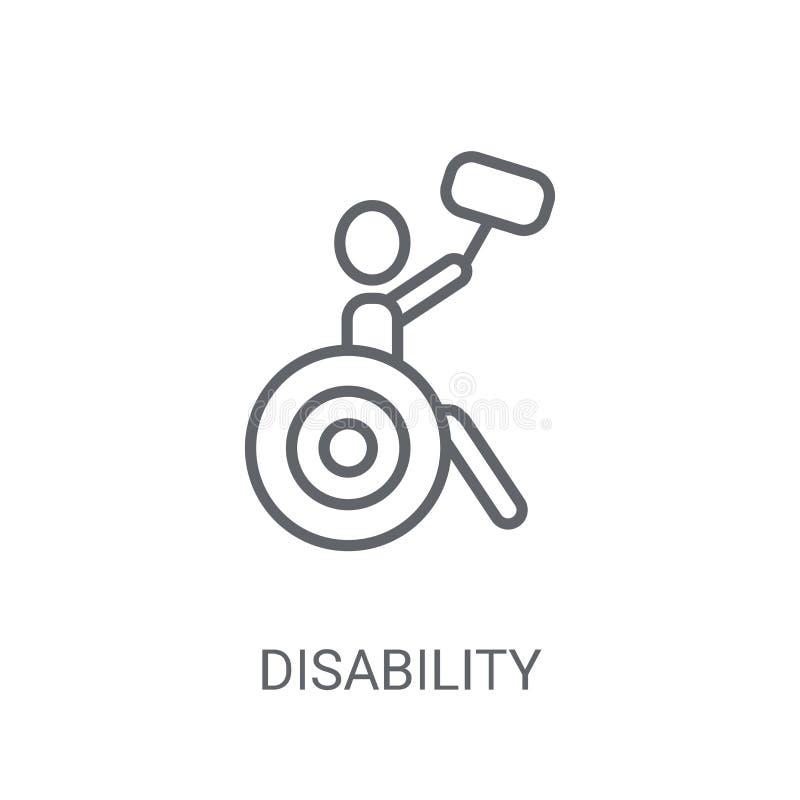 Icône d'incapacité Concept à la mode de logo d'incapacité sur le backgro blanc illustration libre de droits
