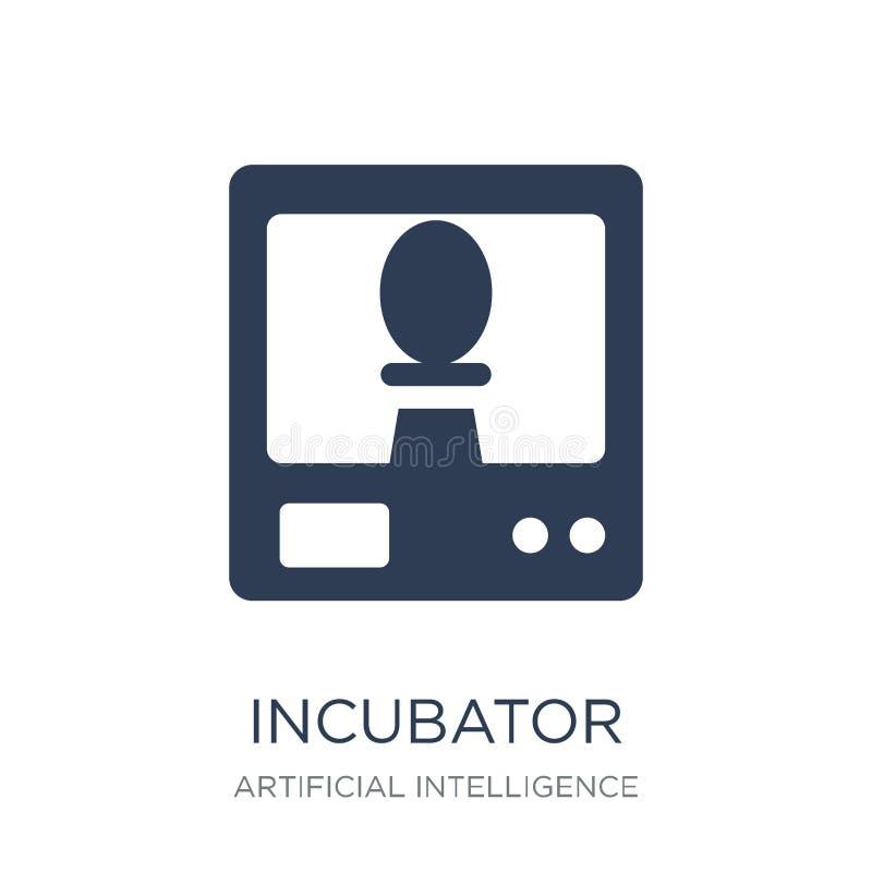Icône d'incubateur Icône plate à la mode d'incubateur de vecteur sur le backg blanc illustration stock