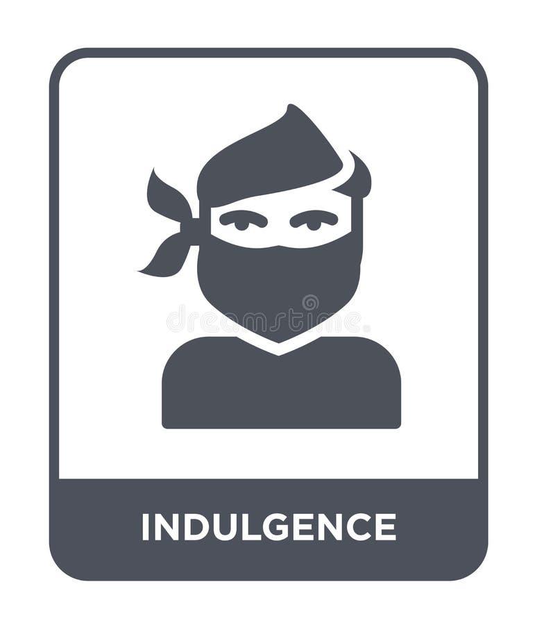 icône d'indulgence dans le style à la mode de conception icône d'indulgence d'isolement sur le fond blanc icône de vecteur d'indu illustration libre de droits