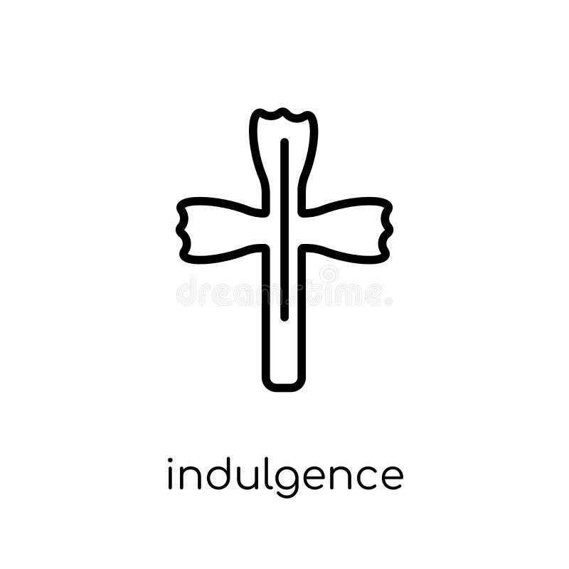 icône d'indulgence Ico linéaire plat moderne à la mode d'indulgence de vecteur illustration stock