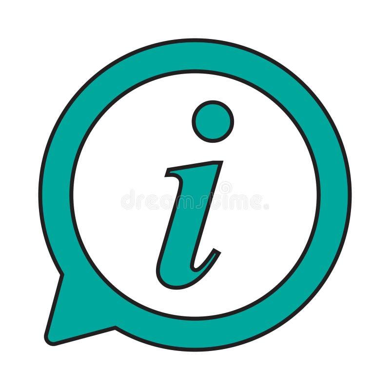Icône d'infos, icône de signe de l'information Symbole de bulle de la parole d'infos Je marque avec des lettres le vecteur illustration de vecteur