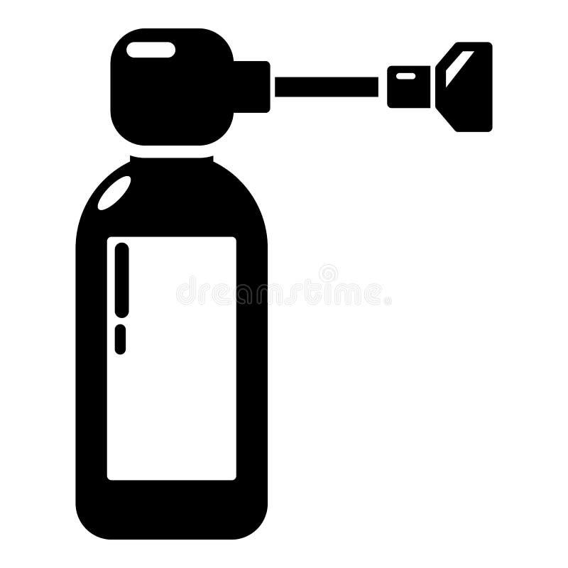 Icône d'inhalateur, style simple illustration stock