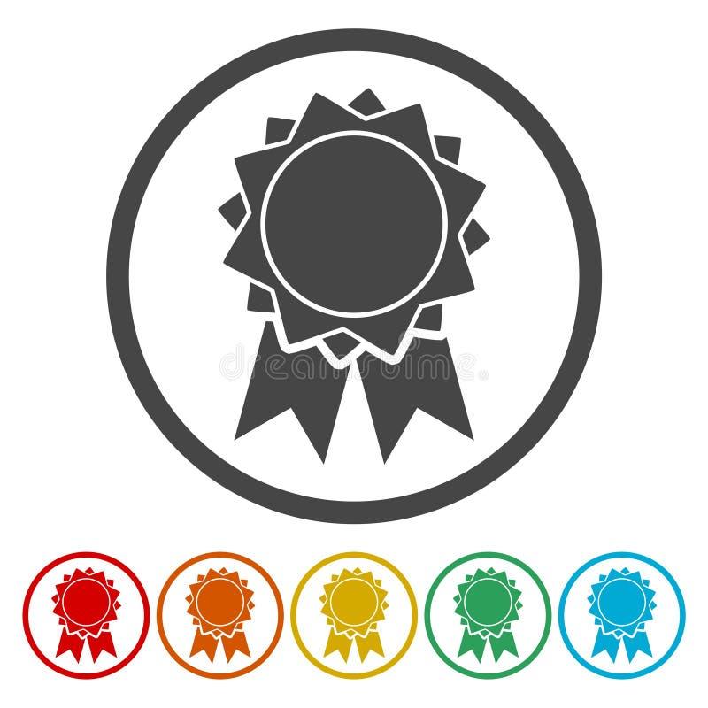 Icône d'insigne de vecteur illustration stock