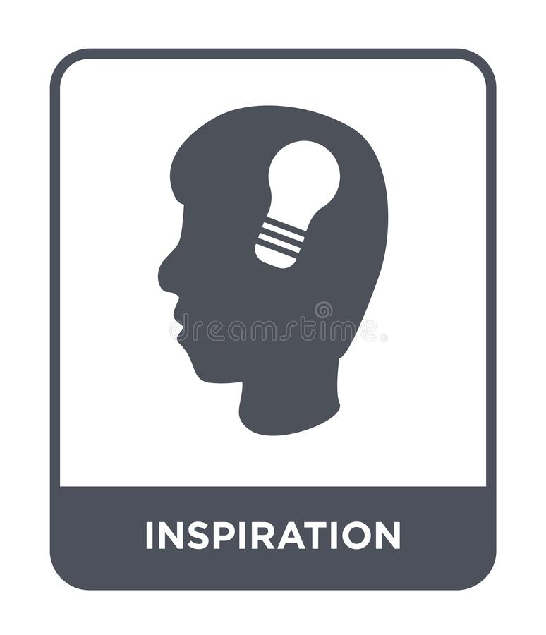 icône d'inspiration dans le style à la mode de conception icône d'inspiration d'isolement sur le fond blanc icône de vecteur d'in illustration libre de droits