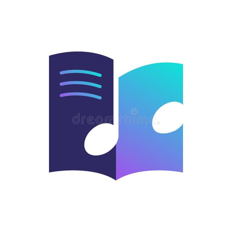 icône d'instruction de vecteur de logo de cours de magazine de note de cahier de musique photos libres de droits