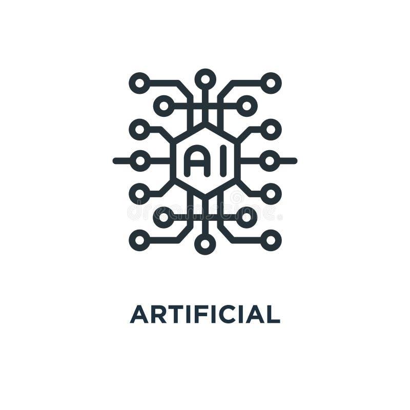Icône d'intelligence artificielle conception de symbole de concept d'AI, vecteur i illustration de vecteur