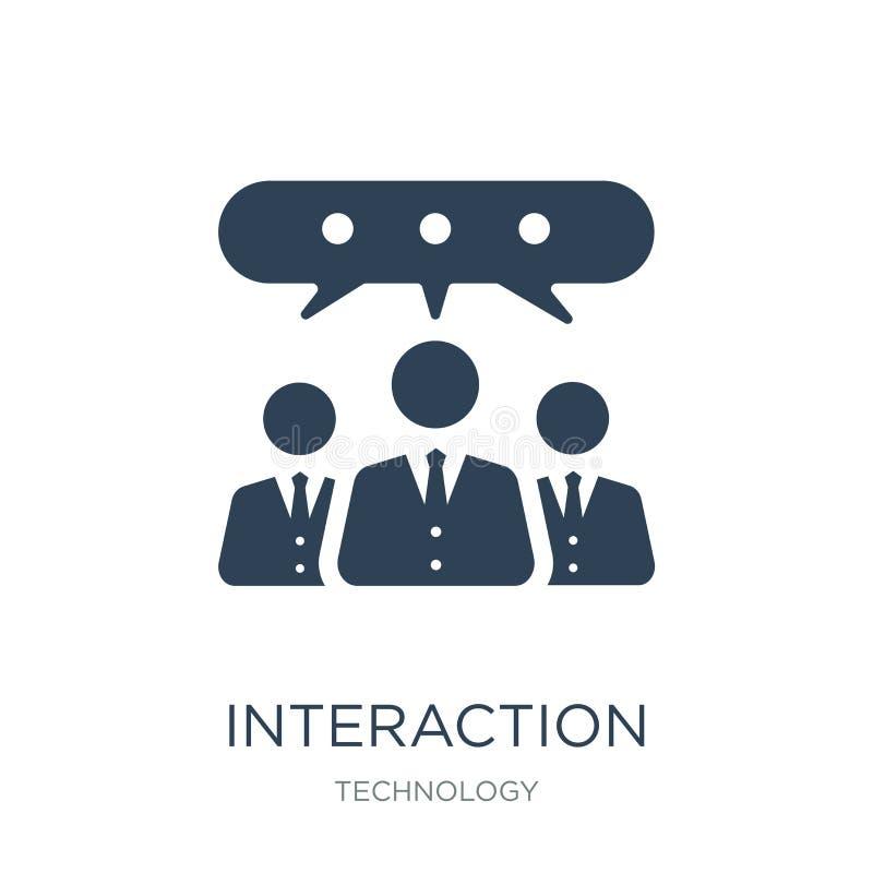 icône d'interaction dans le style à la mode de conception icône d'interaction d'isolement sur le fond blanc icône de vecteur d'in illustration de vecteur