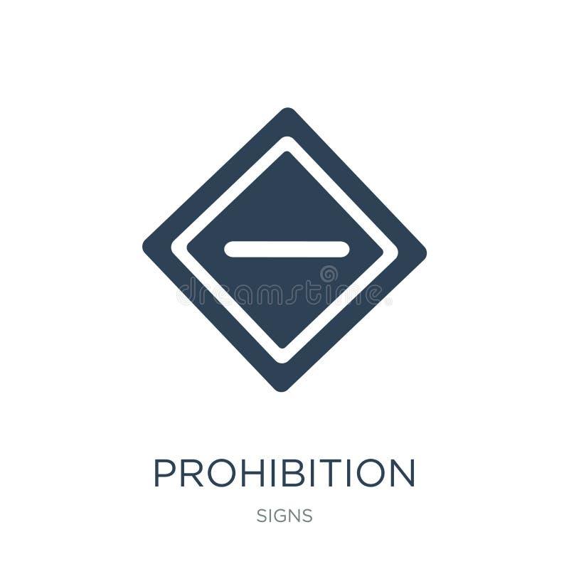 icône d'interdiction dans le style à la mode de conception Icône d'interdiction d'isolement sur le fond blanc icône de vecteur d' illustration libre de droits