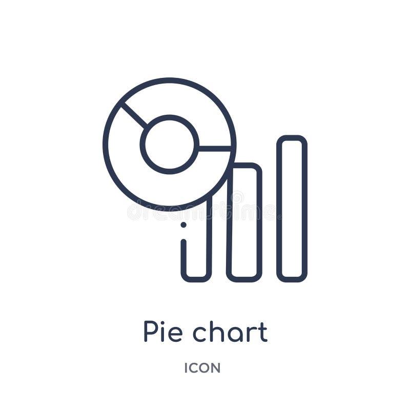 icône d'interface d'analyse de graphique circulaire de collection d'ensemble d'interface utilisateurs Ligne mince icône d'interfa illustration de vecteur