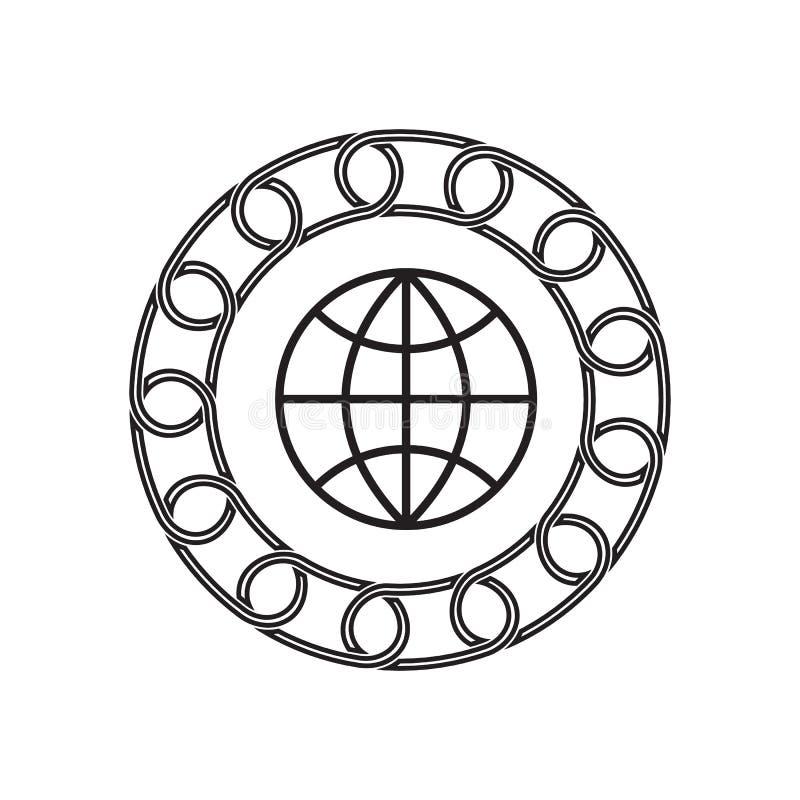 Icône d'Internet avec le concept de blockchain Future technologie illustration de vecteur