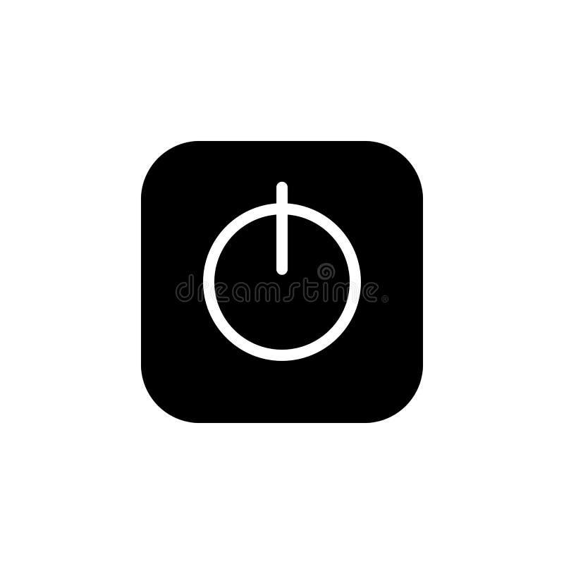 Icône d'interrupteur on/off illustration stock