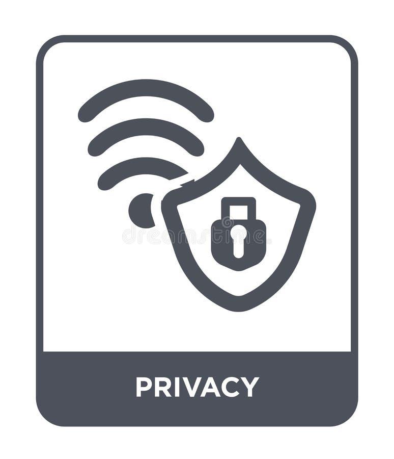 icône d'intimité dans le style à la mode de conception icône d'intimité d'isolement sur le fond blanc symbole plat simple et mode illustration stock