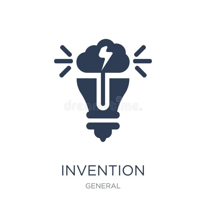 icône d'invention Icône plate à la mode d'invention de vecteur sur le backg blanc illustration de vecteur