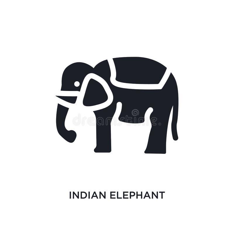 icône d'isolement d'éléphant d'Asie illustration simple d'élément des icônes de concept de l'Inde symbole editable de signe de lo illustration libre de droits