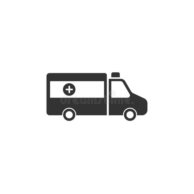 Icône d'isolement d'ambulance sur un fond blanc illustration de vecteur