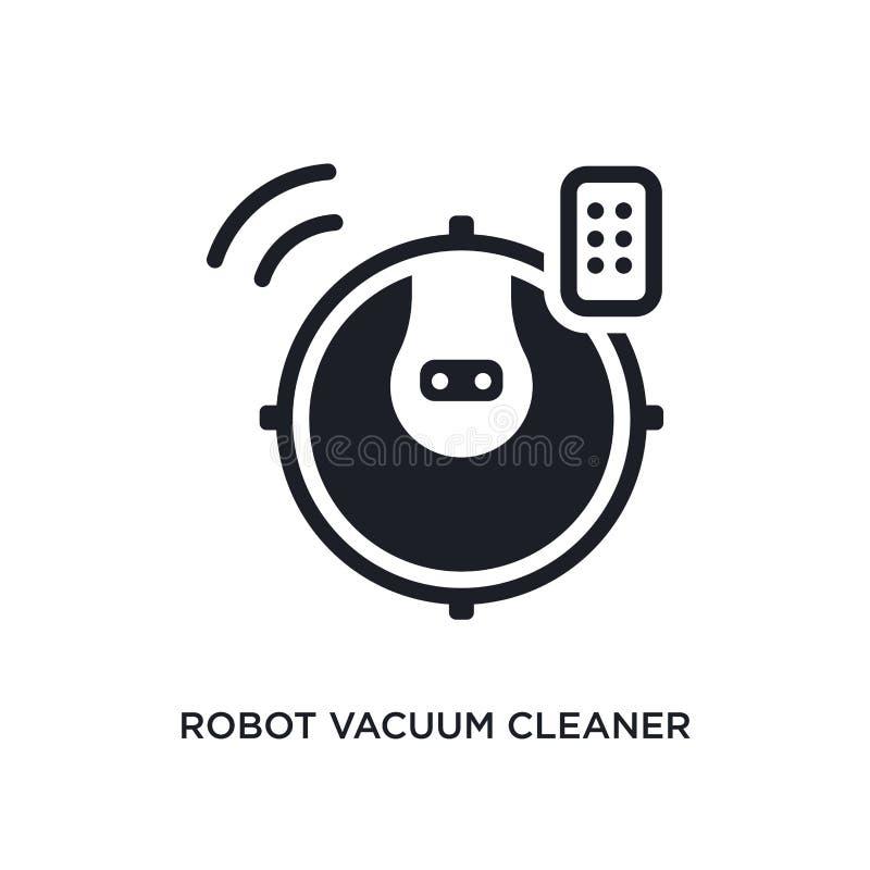 icône d'isolement d'aspirateur de robot illustration simple d'élément des icônes à la maison futées de concept logo editable d'as illustration libre de droits