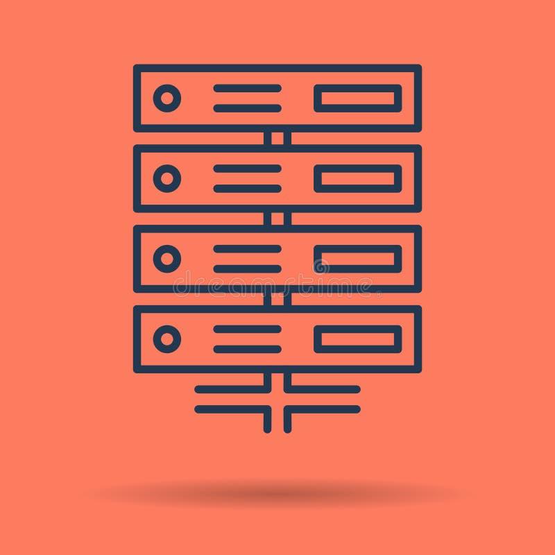 Icône d'isolement de base de données de serveur illustration libre de droits