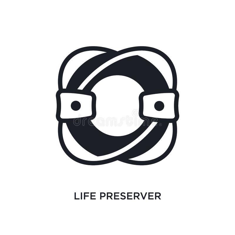 icône d'isolement de conservateur de vie illustration simple d'élément des icônes nautiques de concept symbole editable de signe  illustration stock