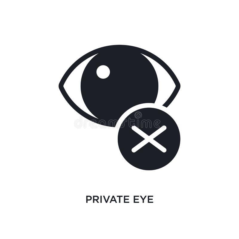icône d'isolement de détective privé illustration simple d'élément des icônes finales de concept de glyphicons signe editable de  illustration stock