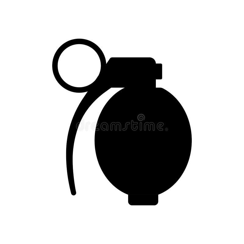 Icône d'isolement de grenade à main illustration de vecteur