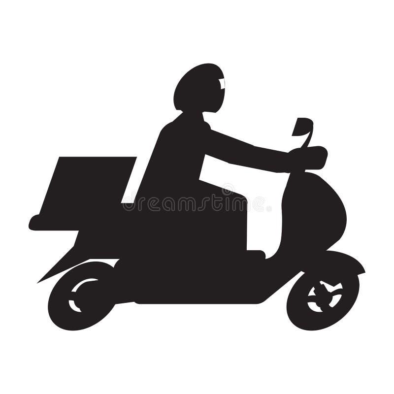 Icône d'isolement de la livraison illustration stock
