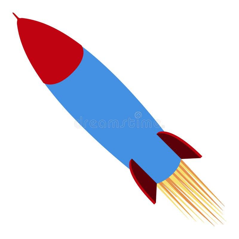 Icône d'isolement de missile illustration libre de droits