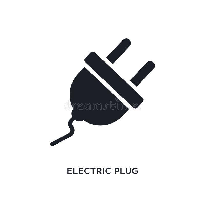 icône d'isolement de prise électrique illustration simple d'élément des icônes du concept general-1 symbole editable de signe de  illustration libre de droits