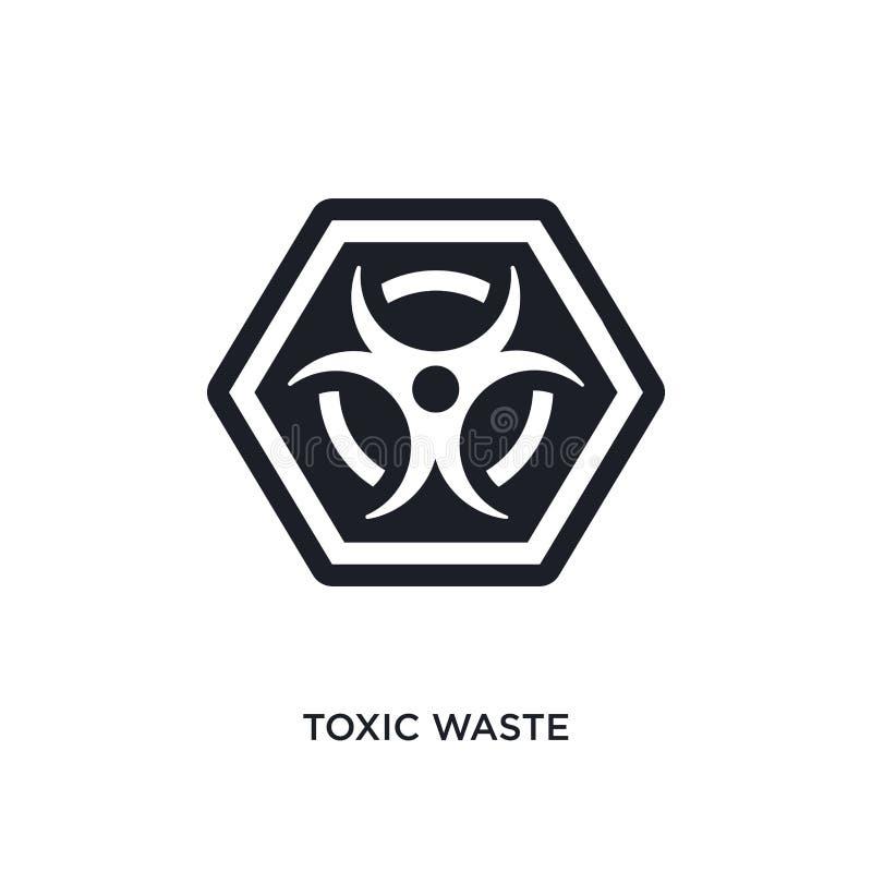 icône d'isolement de rebut toxique illustration simple d'élément des icônes de concept de signes conception editable de rebut tox illustration de vecteur