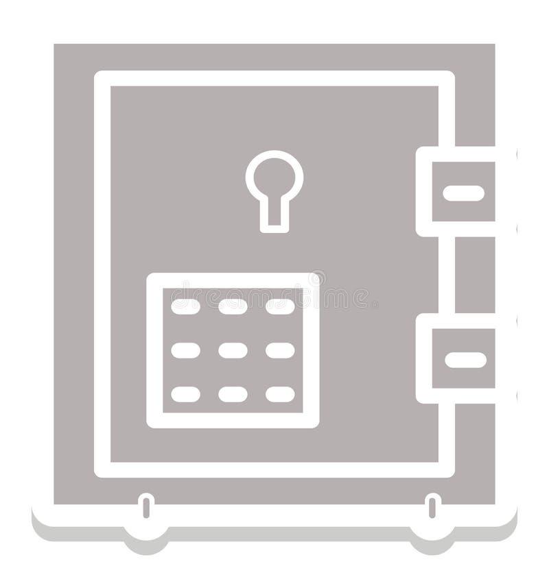 Icône d'isolement de vecteur de chambre forte de banque qui peut être facilement d'éditer ou a modifié illustration stock