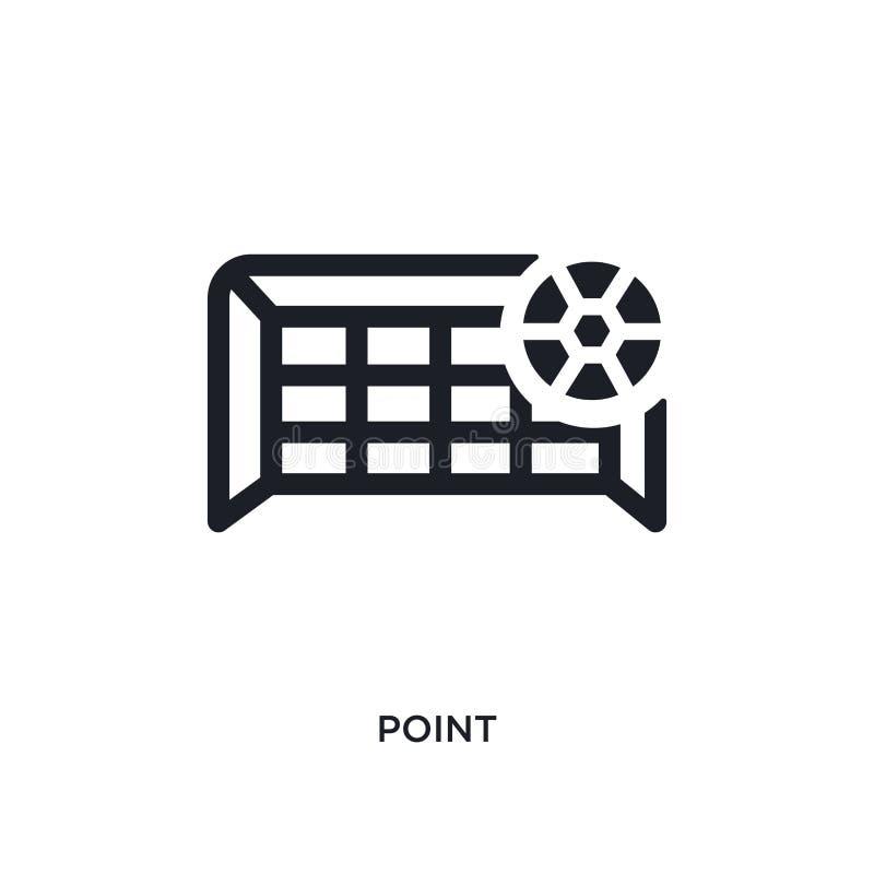 icône d'isolement de vecteur de point noir illustration simple d'élément des icônes de vecteur de concept du football symbole noi illustration de vecteur