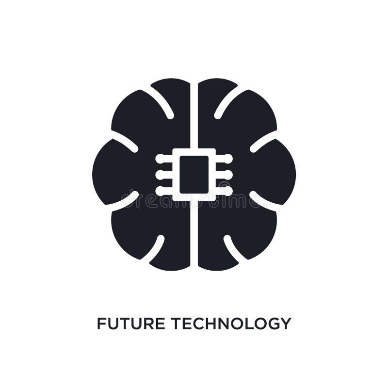 icône d'isolement future par technologie illustration simple d'élément des icônes du concept general-1 signe editable de logo de  illustration libre de droits