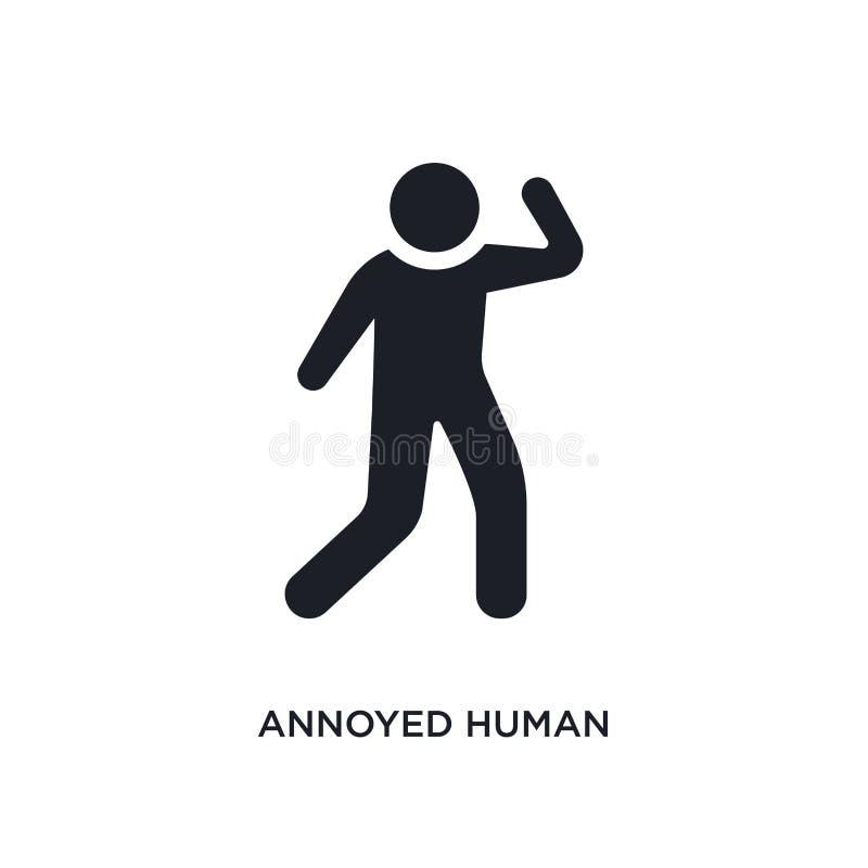 icône d'isolement humaine contrariée illustration simple d'élément des icônes de concept de sentiments symbole editable humain co illustration stock