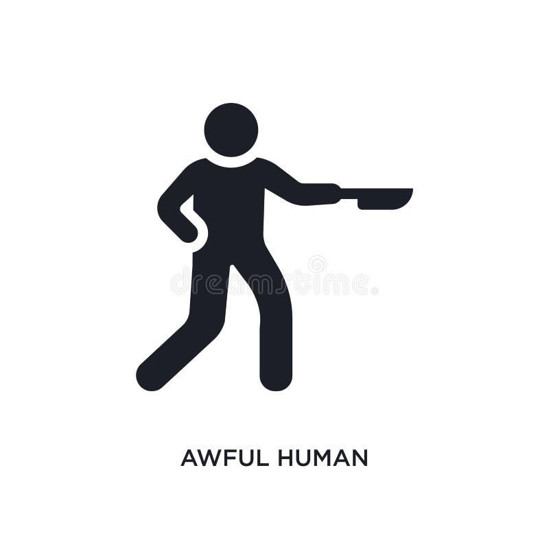 icône d'isolement humaine terrible illustration simple d'élément des icônes de concept de sentiments conception editable humaine  illustration de vecteur