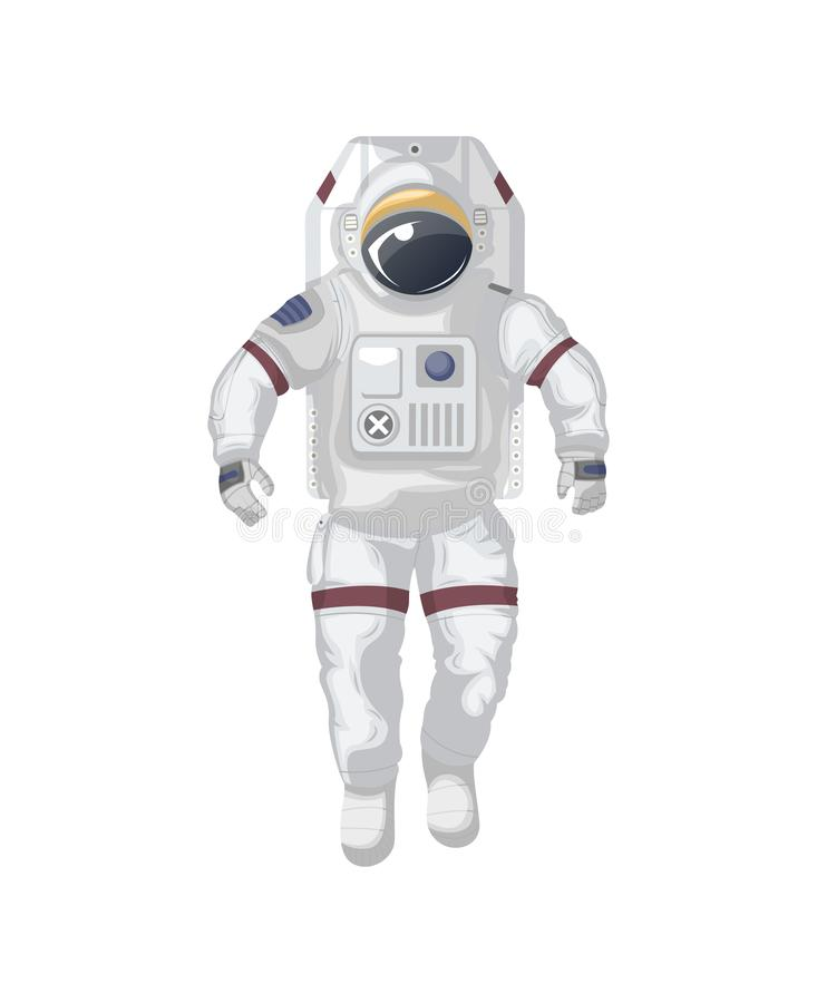 Icône d'isolement moderne de costume d'espace illustration libre de droits